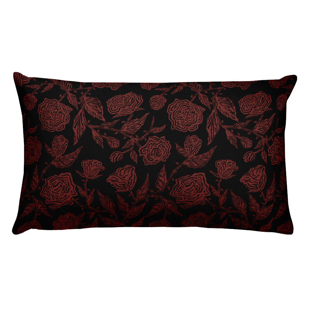 Roses Pillow - Red