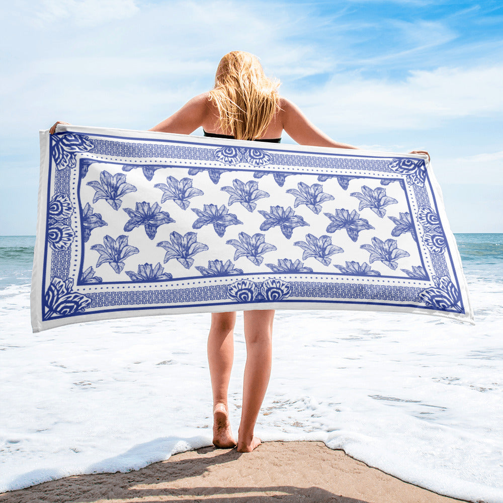 August Medium Blue Towel