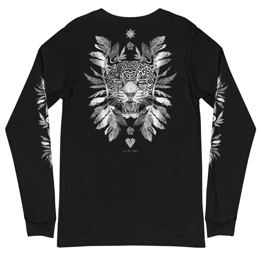 Jaguar w/ Magnolia Leaves Long Sleeve T