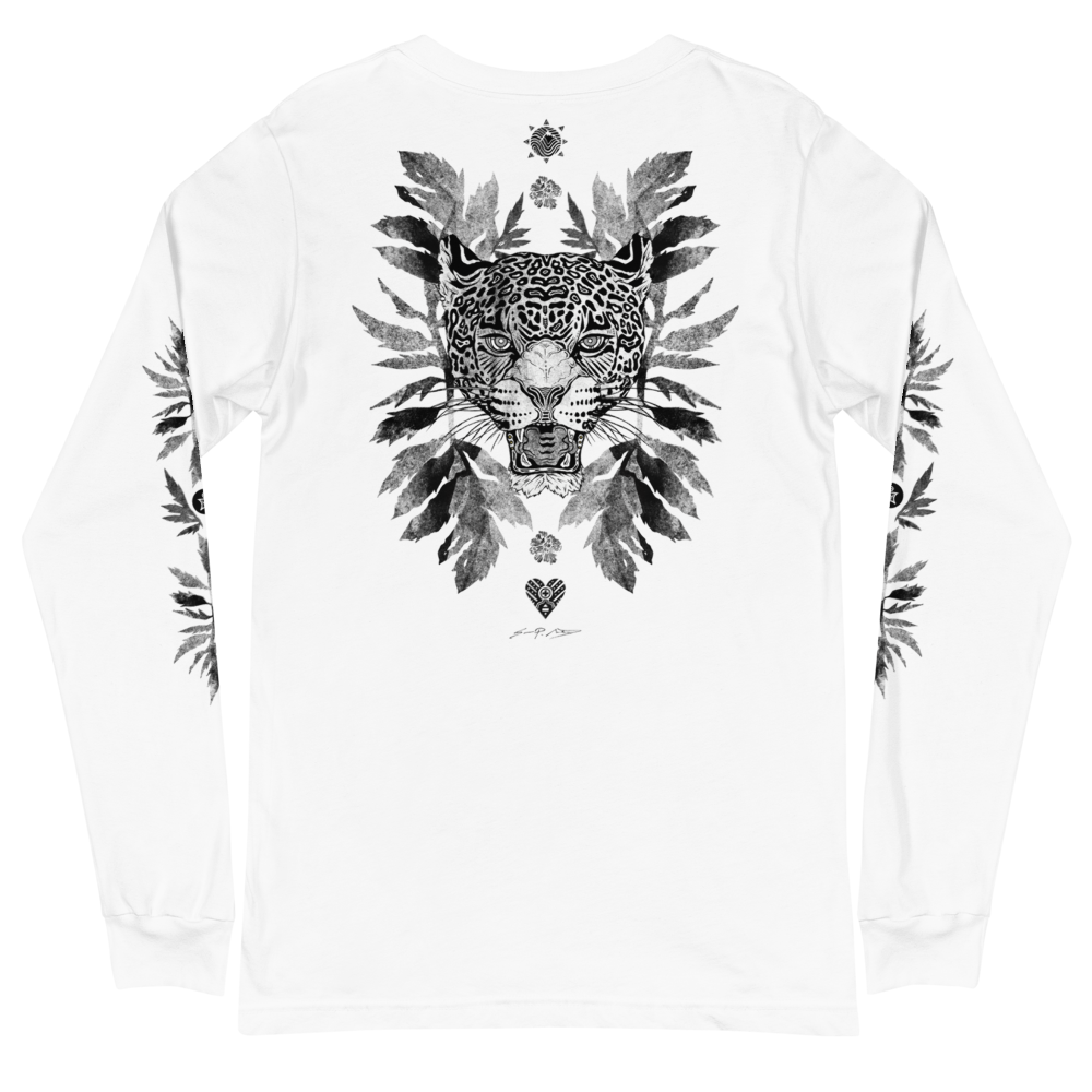 Jaguar w/ Marigold Leaves Long Sleeve T
