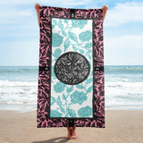 Flourish Towel - Pink and Light Blue