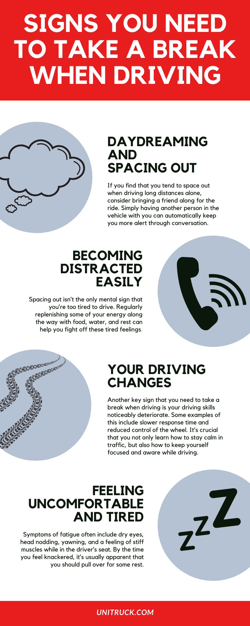 Signs You Need to Take a Break When Driving infographic