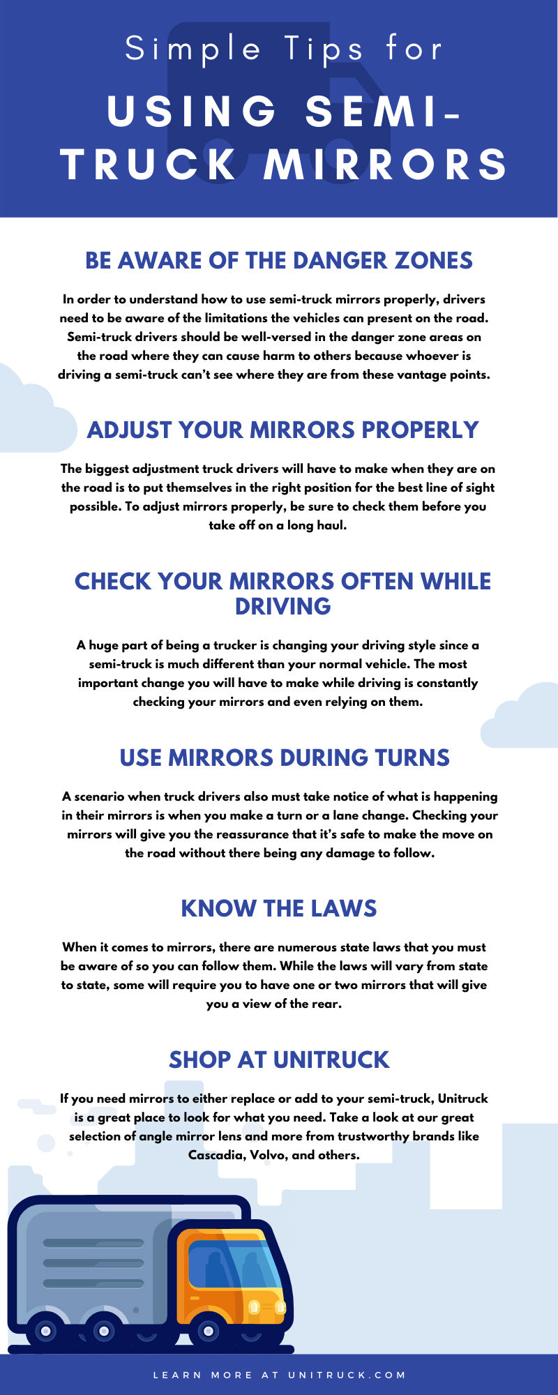 Simple Tips for Using Semi-Truck Mirrors