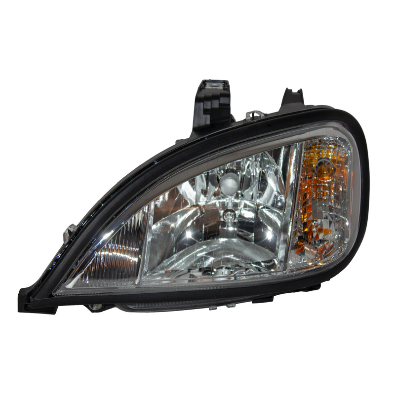 Freightliner Cascadia (08-14) Head Lamp Assembly Manual Halogen Chrome