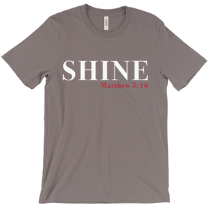 Shine Red Letter Short Sleeve Tee