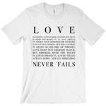 Love Never Fails Short Sleeve Tee