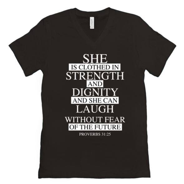 Proverbs 31:25 Short Sleeve Tee