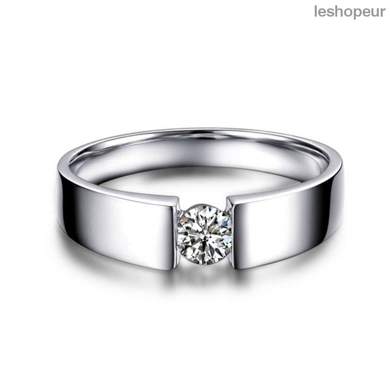 354f66ee977 100% original Solid 925 Silver Rings Set 6mm 1ct CZ Diamant Engagement Rings  Jewelry Wedding Rings for Women and Men RD10