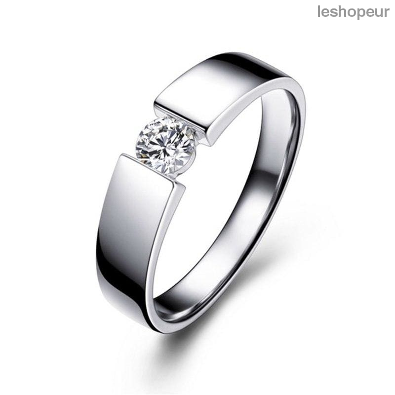 51b8888ad7d 100% Original Solid 925 Silver Rings Set 6Mm 1Ct Cz Diamant Engagement Rings  Jewelry Wedding ...