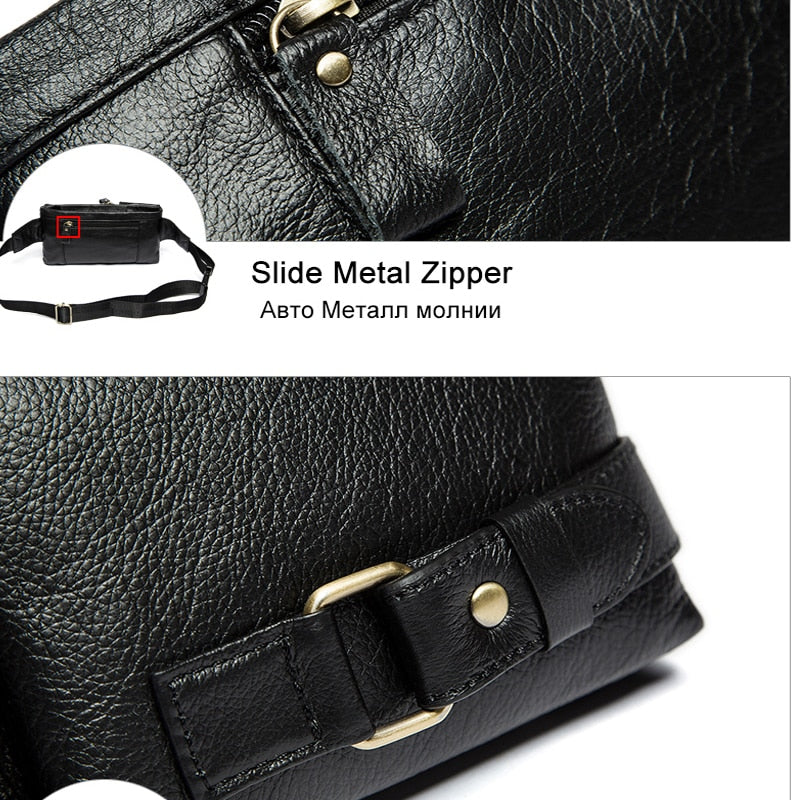 587b67774d ... WESTAL Genuine Leather Waist Packs Fanny Pack Belt Bag Phone Pouch Bags  Travel Waist Pack Male ...