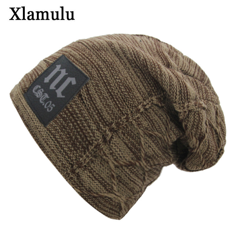 3fa367dd894 Xlamulu Skullies Beanies Knitted Hat Winter Hats For Men Women Mask Beanie  Warm Baggy Soft Thick ...