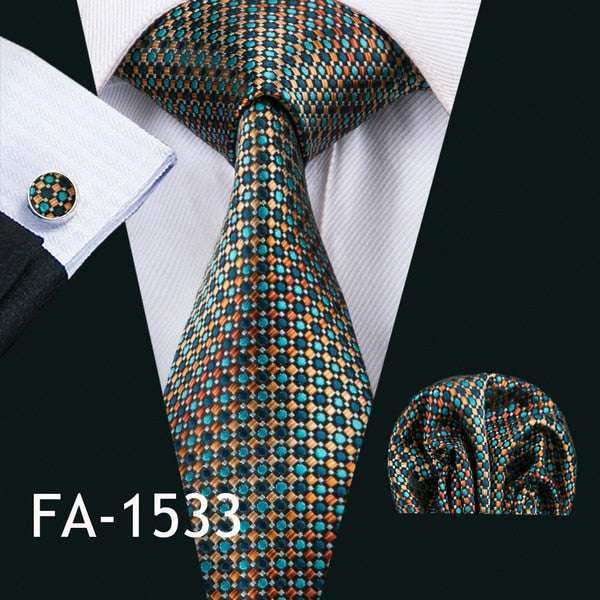 Barry Wang 2018 New Arrival 20 Styles Blue Ties For Men 100 Silk Male