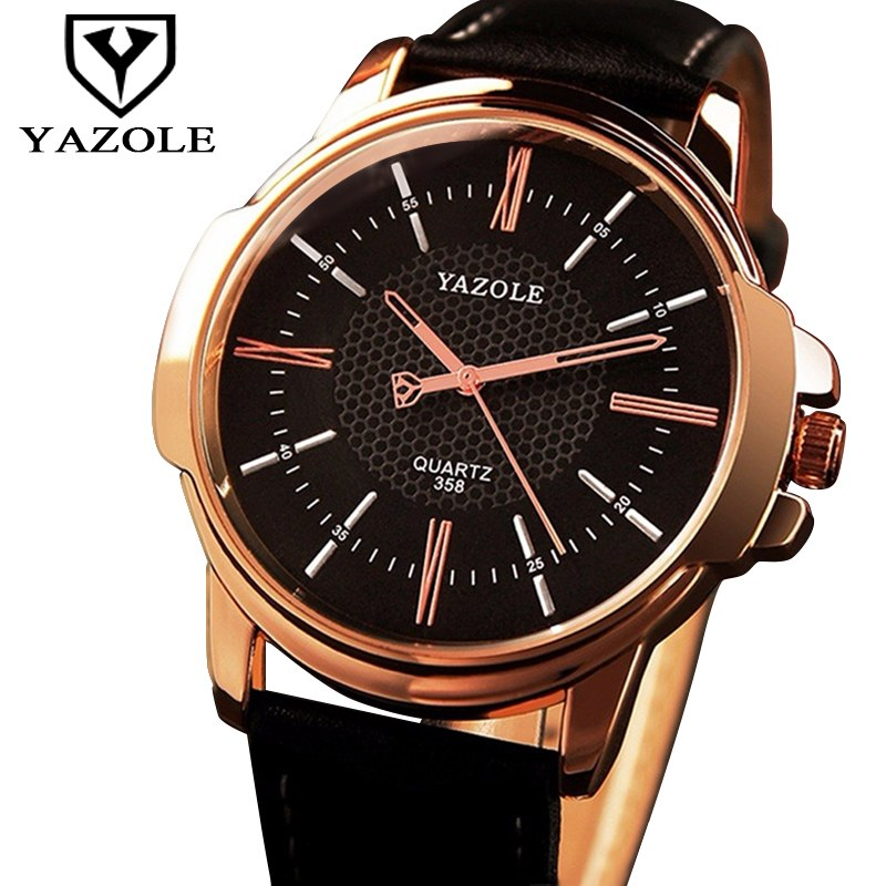 760aa276e7e ... YAZOLE Men Clock Rose Gold Watch Men 2018 Top Brand Luxury Golden  Business Wristwatch Male Clock ...