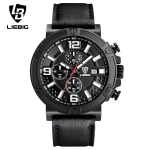 e5c1d55cc02 LIEBIG Men Luxury Quartz Wristwatches Calendar Leather Waterproof Fashion  Sport Watches Commander Relogio Masculino ZHG161013