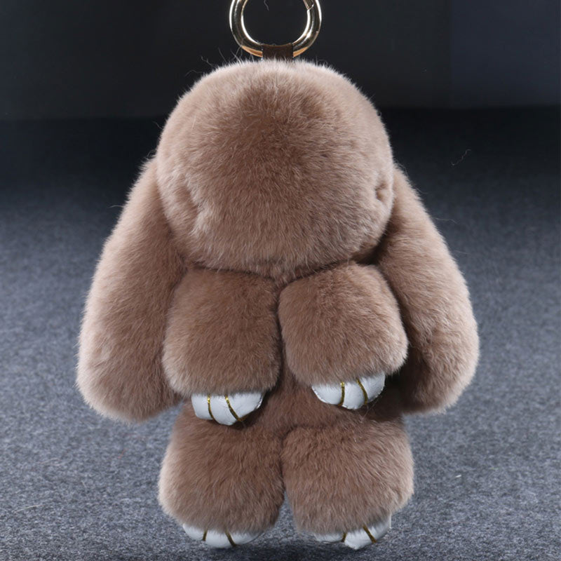 ... 14cm Fluffy Bunny Dolls Keychain Girls School Bag Charm Fashion Cute  Youth Girl Purse Handbag Charm ... b7af8b26c