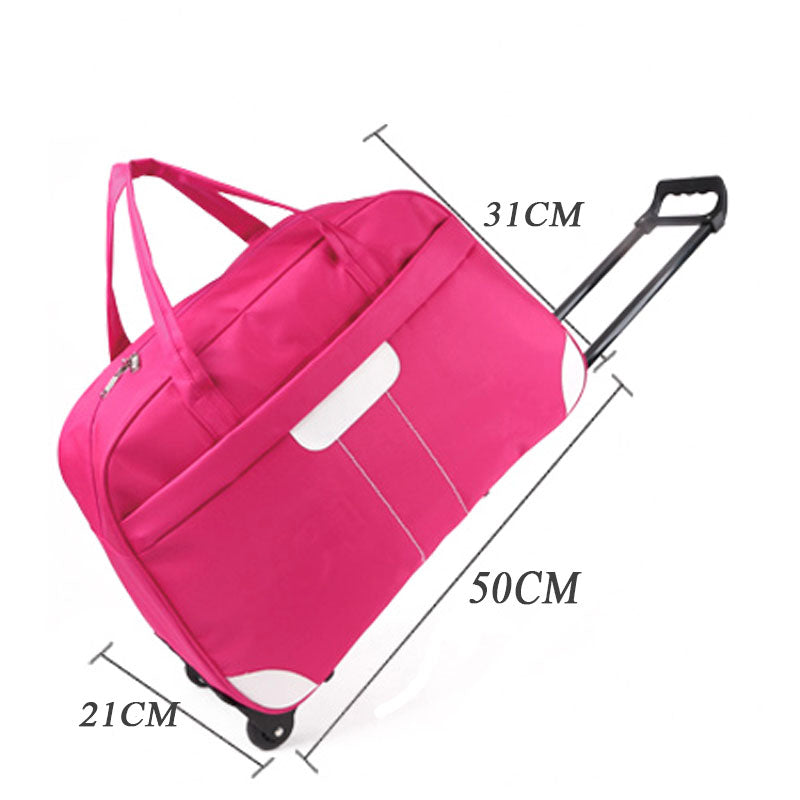 657bfca155 ... JXSLTC Luggage Trolley Bag Women Travel Storage Bags Hand Trolley  Unisex Bag Large Capacity Travel Bags ...