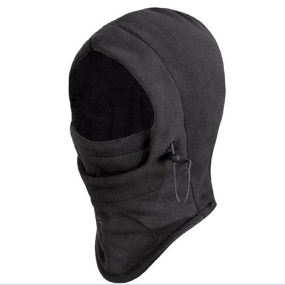 e85c3472937 Thermal Fleece Balaclava Hat Hooded Neck Warmer Winter Sports Face Mask for  Men Ski Bike Motorcycle ...