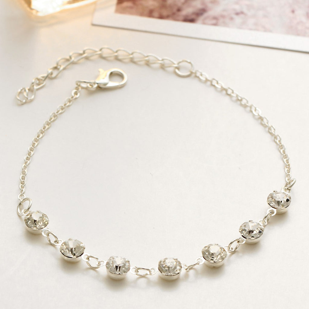 Trendy sexy rhinestone anklet women foot chain beach barefoot jewelry femme  crystal beads barefoot sandals ankle ... 5afbfef119f0