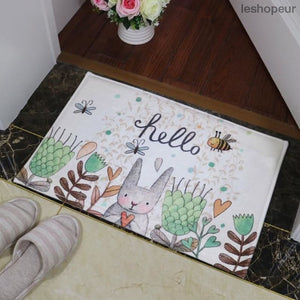 Bathroom Carpet Doorway Floor Antiskid Absorbent Cute Smell Rabbit