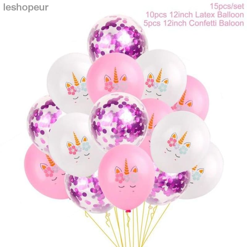 Qifu Unicorn Party Supplies Birthday Decorations Decoration Favors Baby Shower Girl