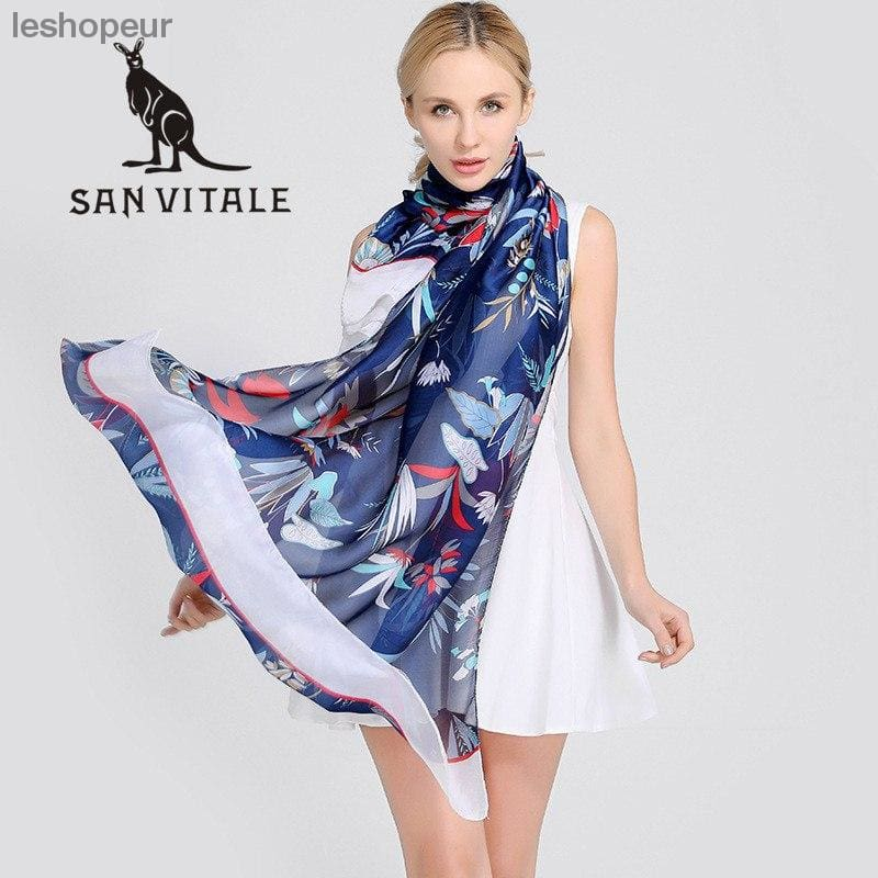 0df01a999a9d Scarves Womens Silk Scarf Floral Lace Scarf Head Cover New Spring  Embroidery Dress High Quality Women ...