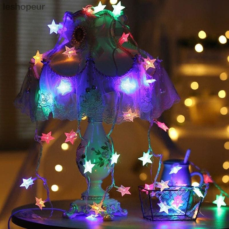 usb 3m 20 led stars holiday lights string battery powered fairy lights christmas new year holiday decoration lightno battery