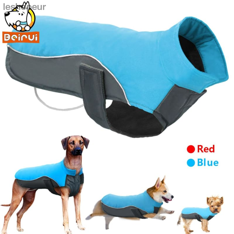 Waterproof Dog Clothes Vest Jacket Warm Reflective Pet Clothes