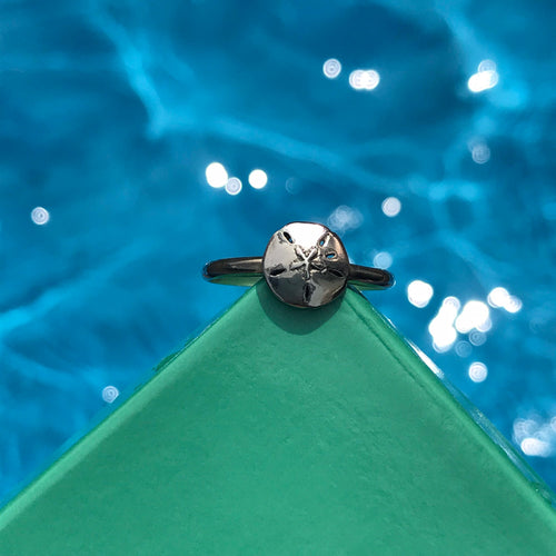 Sanddollar Stackable Ring in Sterling Silver