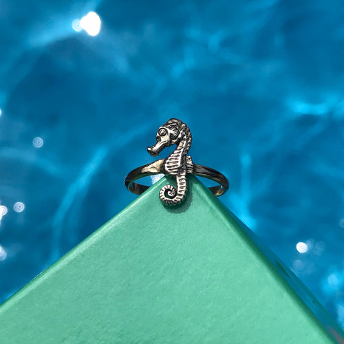 Seahorse Stackable Ring in Sterling Silver