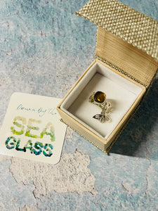 Honeycomb Sea Glass Ring