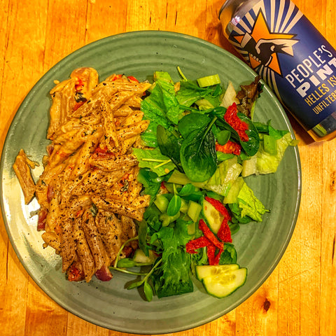 Serve and enjoy with Helles Island Lager