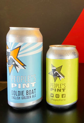 Goldie Boat English Golden Ale and Settebello Italian Pilsner