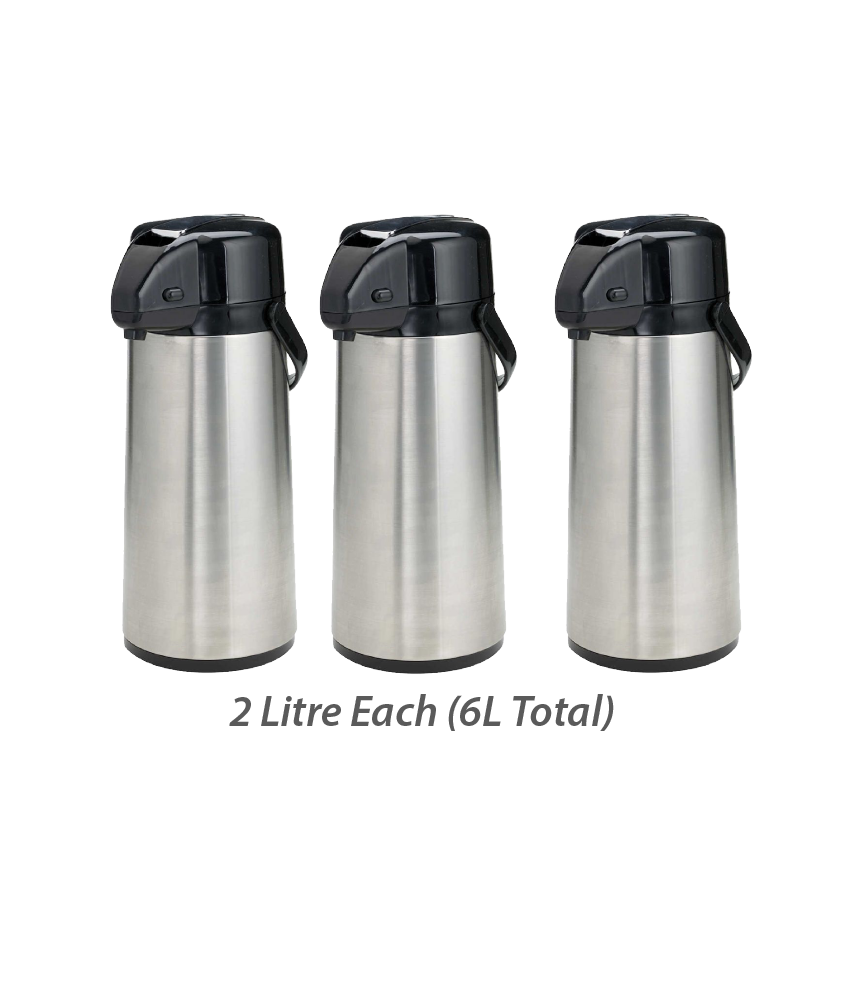 (THREE) 2 Litre Hot Chaga Thermos - Recurring