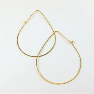 J.Mills Studio - 14K Gold Filled Forged Large Avocado Hoops