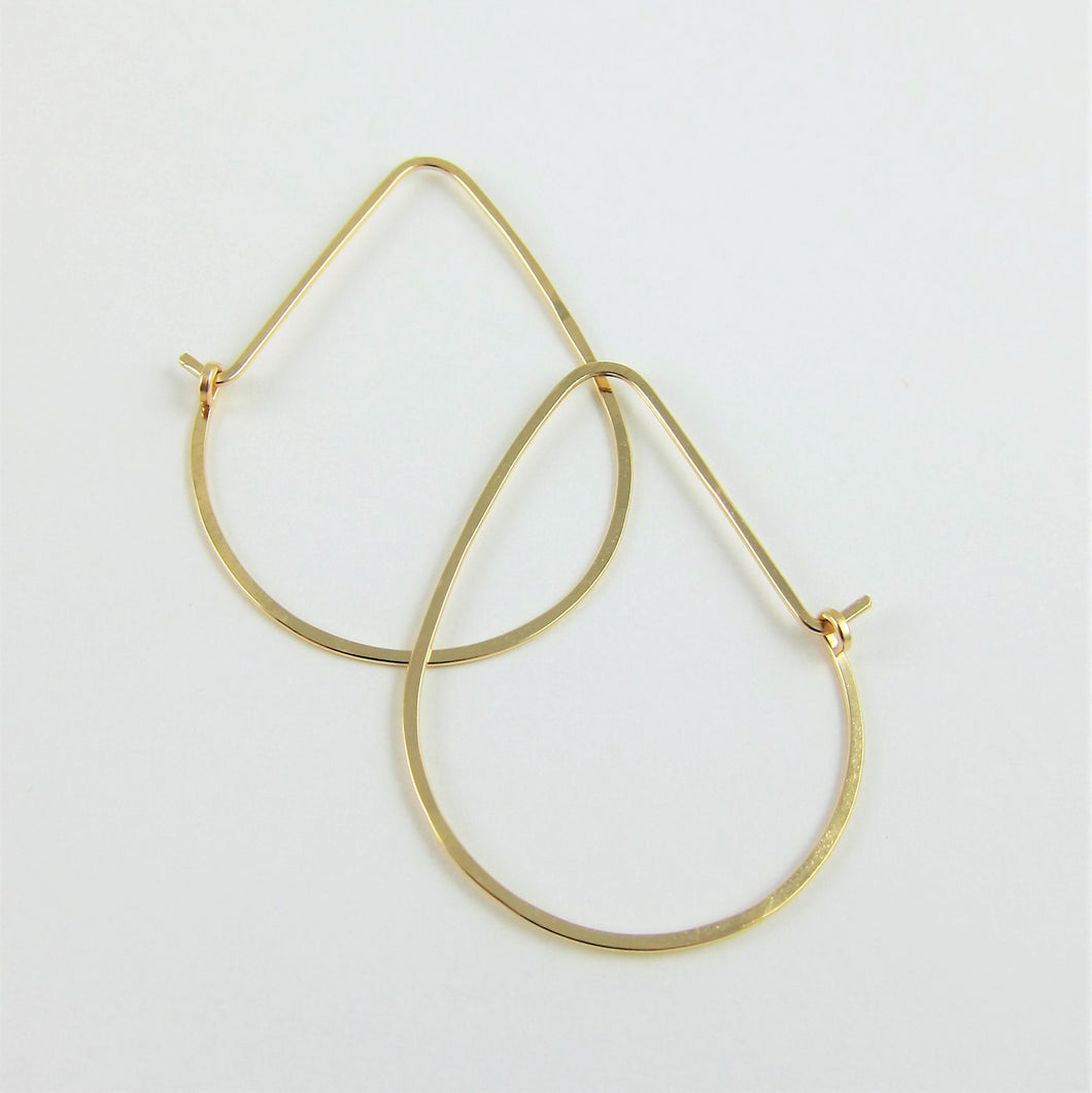 J.Mills Studio - 14K Gold Filled Forged Small Avocado Hoops
