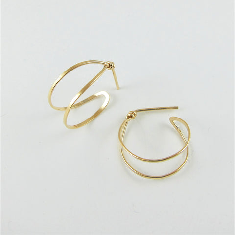 J.Mills Studio - Medium Double Hoop Earrings Gold