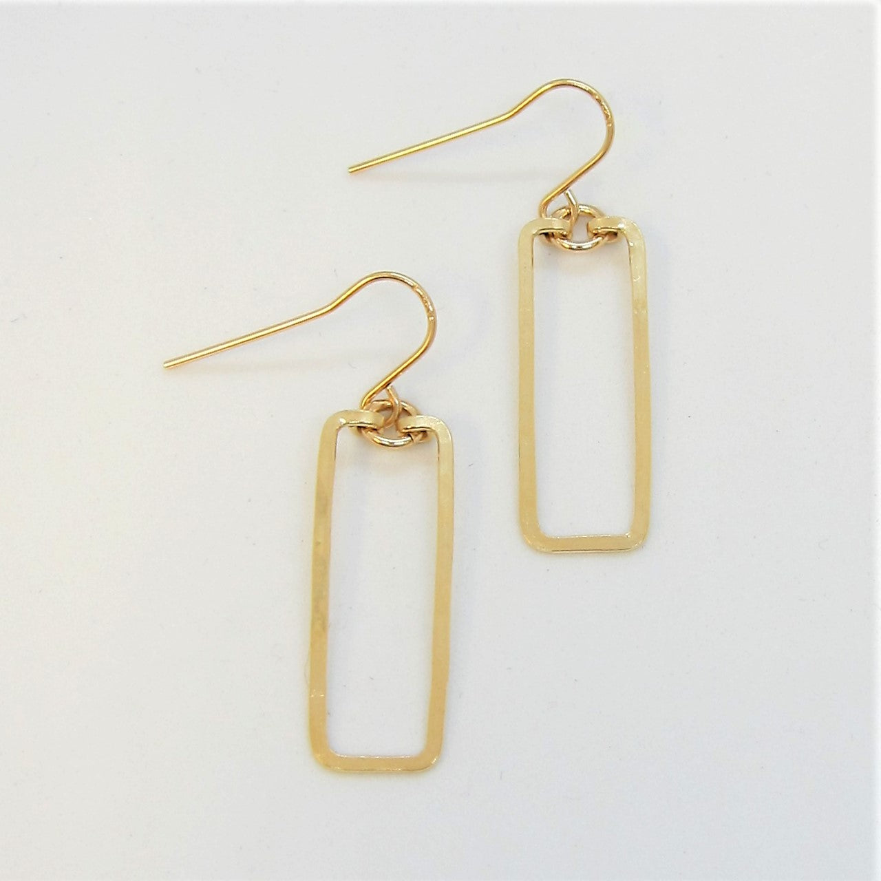 J.Mills Studio - Small Single Rectangle Earrings Gold