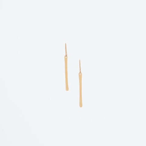 J.Mills Studio - Short Forged Vertical Bar Earrings Gold