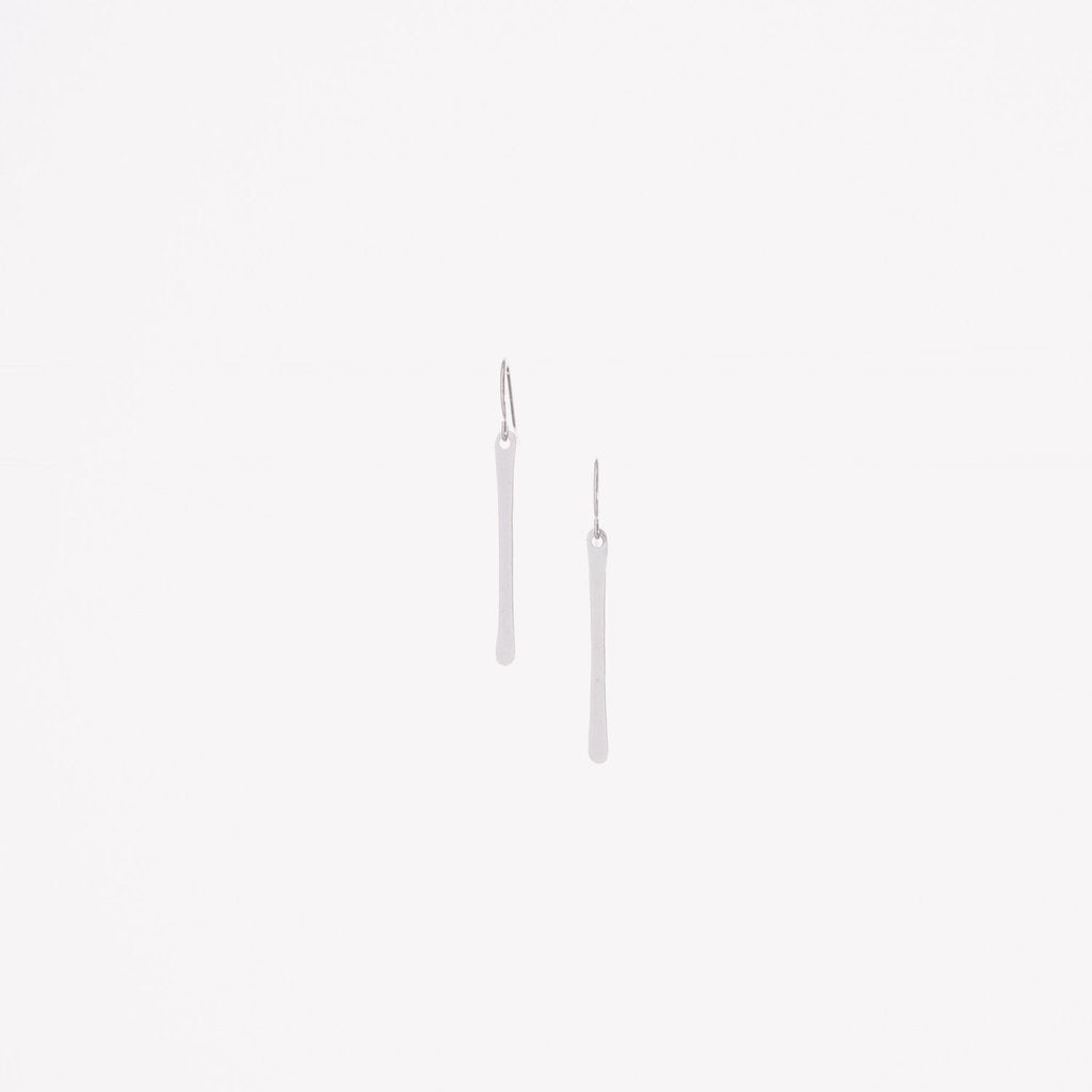 J.Mills Studio - Short Forged Vertical Bar Earrings Silver