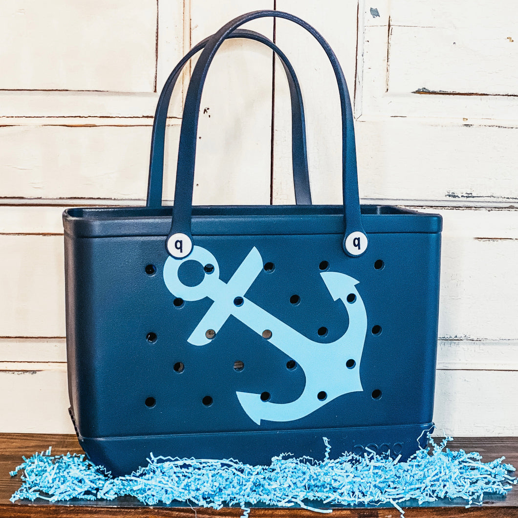 Large Anchor Print Bogg Bag