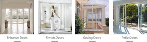 7* uPVC Double Triple Glazed Windows Doors Energy Efficient Acoustic Glass Thermal Insulation Performance Sustainable Passive Tiny House Living Aluplast Deceuninck Zendow Kommerling C70 Gold VEKA Softline MD82 Rehau Synego Siegenia Roto Bunnings Hardware
