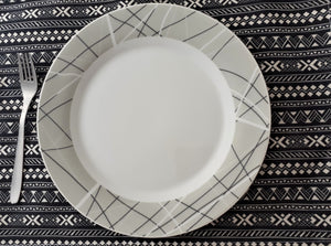 Set de Table Noir et Blanc