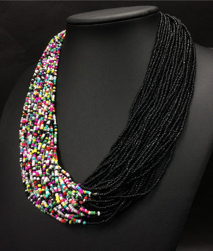 Collier d'inspiration ethnique: l'Arc en ciel