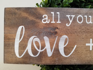 Painted Farmhouse Sign - 6×18 - Rustic Lettering