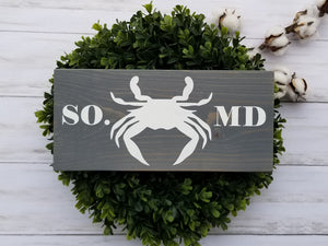 Southern Maryland Crab Wood Sign - Multiple Size and Stain Options