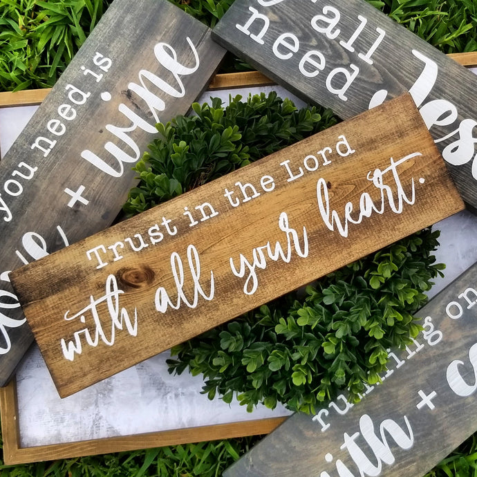 Design Your Own Sign Tool - Custom Wood Sign - ONE LINE - Multiple Font, Size and Stain Options