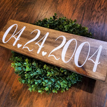 Custom Wedding Date Wood Sign - Multiple Stain Options