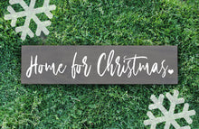 Home for Christmas Wood Sign - Multiple Size and Stain Options - Holiday Christmas Winter Farmhouse Sign