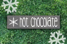 Hot Chocolate Wood Sign - Multiple Size and Stain Options - Holiday Christmas Winter Farmhouse Sign