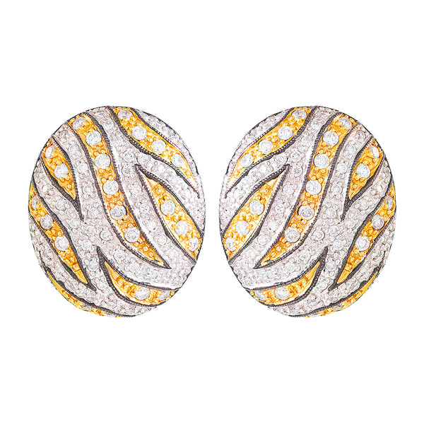 Aretes Ghiberti Jungle en oro 14K y Diamantes